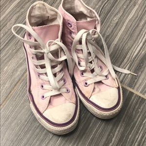 Converse chuck taylor high top sneakers pink sz 36
